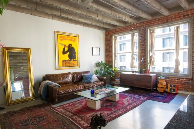 Elegant Downtown Los Angeles Loft Living Room Part 25
