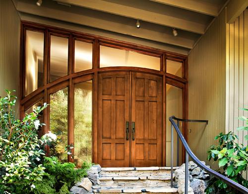 Modelos de Portas de entrada de madeira