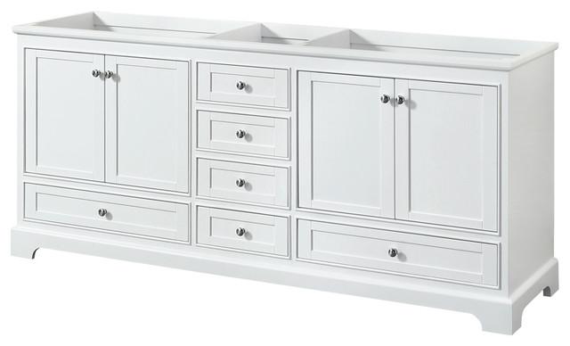 deborah 80 double bathroom vanity white no top no sink