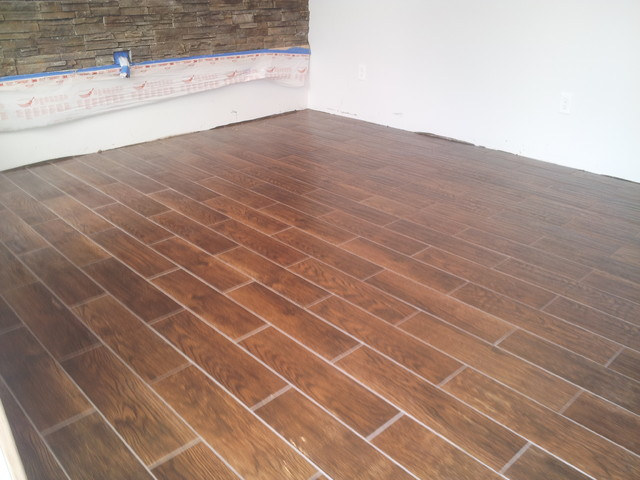 6 X 24 Floor Tile That Looks Like Wood Planking Above