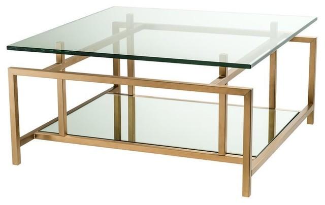 square brass coffee table eichholtz superia gold 28 w x 28 d x 14 h