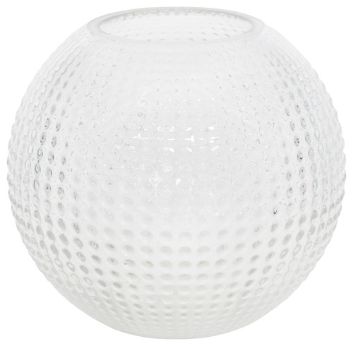 "Flora Vase Glass, Clear, 10""x 9"""