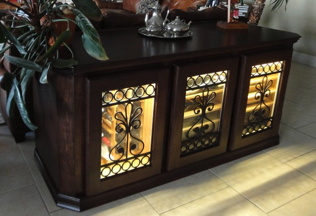 Refrigerated Wine Cabinet Transitional Home Bar