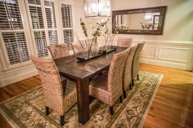 Traditional Farmhouse Table Farmhouse Dining Room