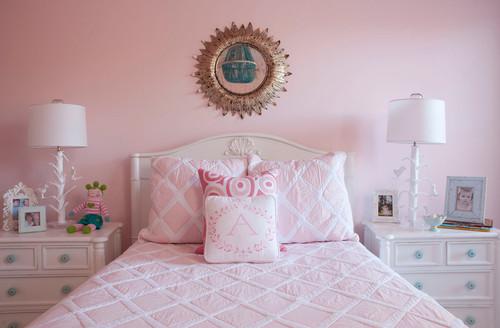 Pink & Turquoise Big Girl Room