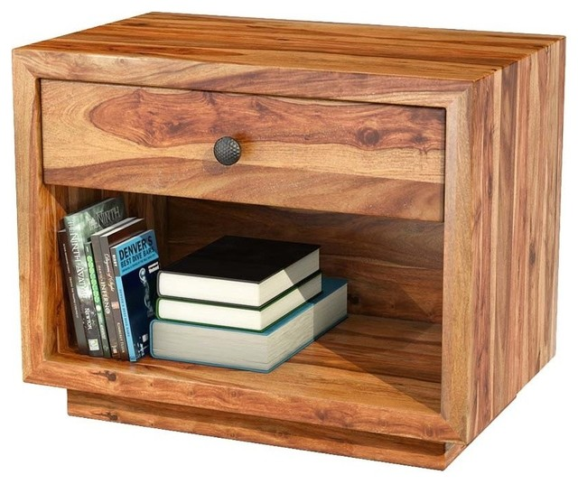 delaware solid wood nightstand end table