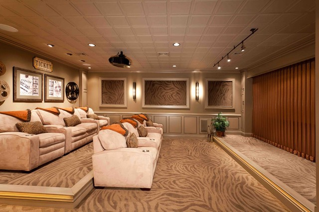 Movie Theater Room Transitional Basement By Custer