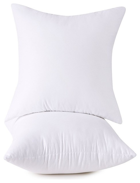 2 pack high quality square pillow form inserts hypoallergenic usa 12 x 12 inch