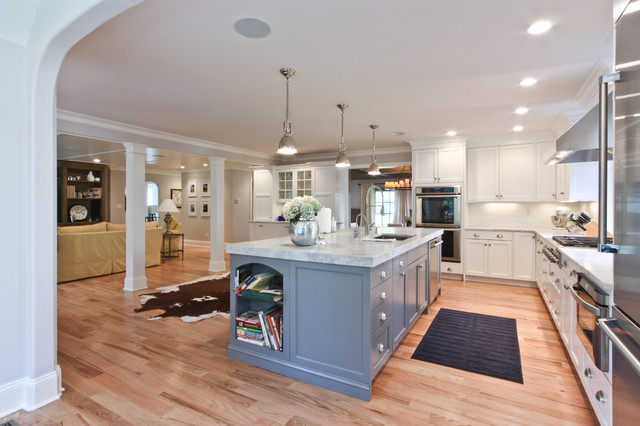 Floor Galley Open Kitchen Plans