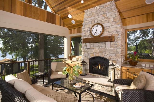 Screen Porch traditional-porch
