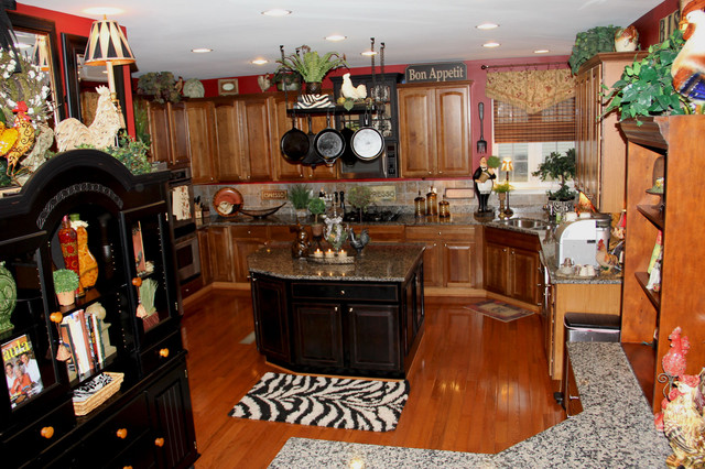 Red Amp Black Themed Kitchen