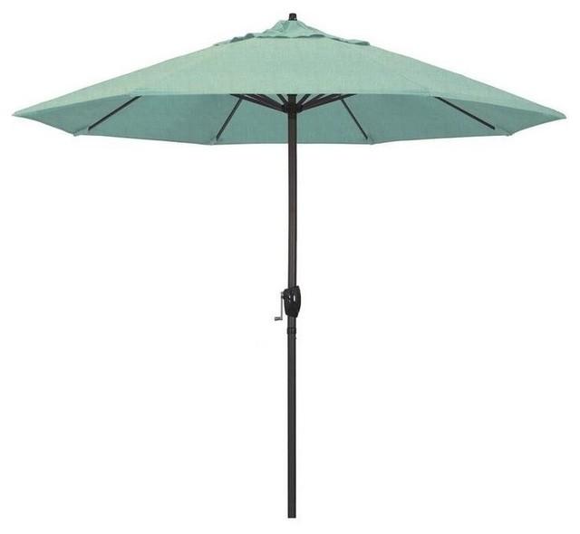9 aluminum market umbrella auto tilt bronze sunbrella spectrum mist