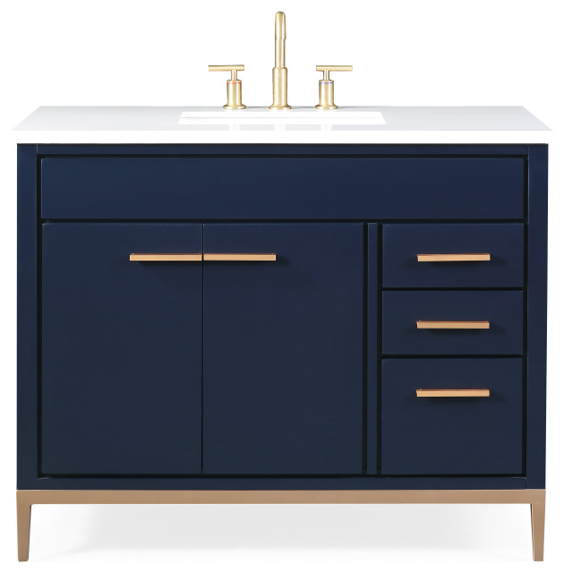 42 beatrice modern navy blue bathroom vanity