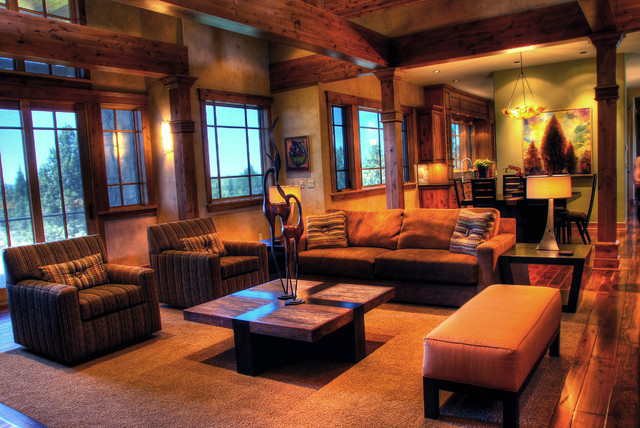 Rustic Modern Mountain Retreat Contemporary Living Room Portland By Cherie Myrick Interiors