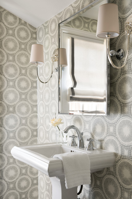 Sophisticated Ranch Style Home transitional-powder-room