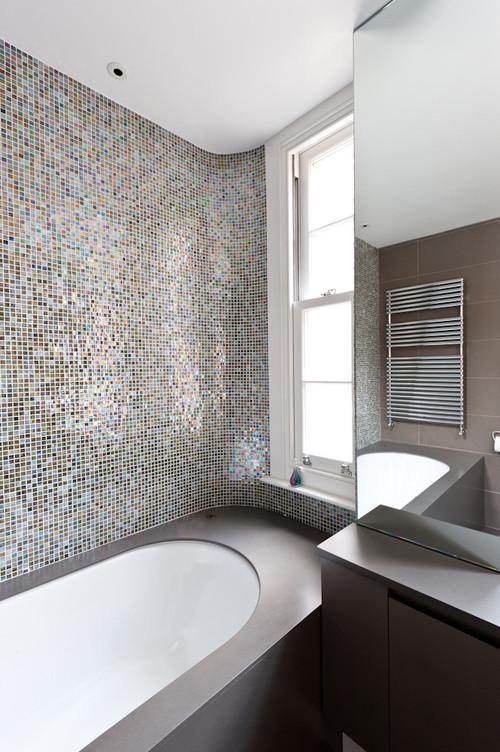 Mirror Mosaic Bathroom Tiles Bathroom Ideas Frameless Large