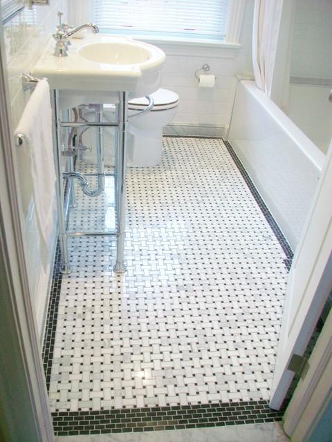 basketweave floor tile