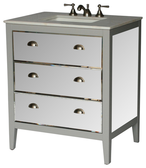 30 inch contemporary style single sink bathroom vanity model 2610 g