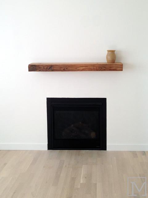 Minimalist Fireplace Farmhouse Living Room Orange
