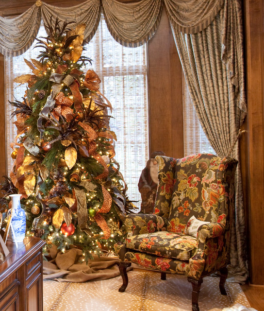 Christmas Interior Traditional Home Office Houston