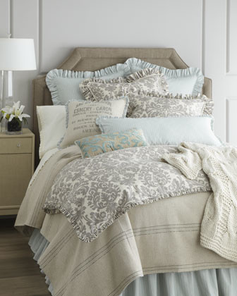 French Laundry Home Gray Damask Bed Linens Traditional Bedroom Dallas By Horchow