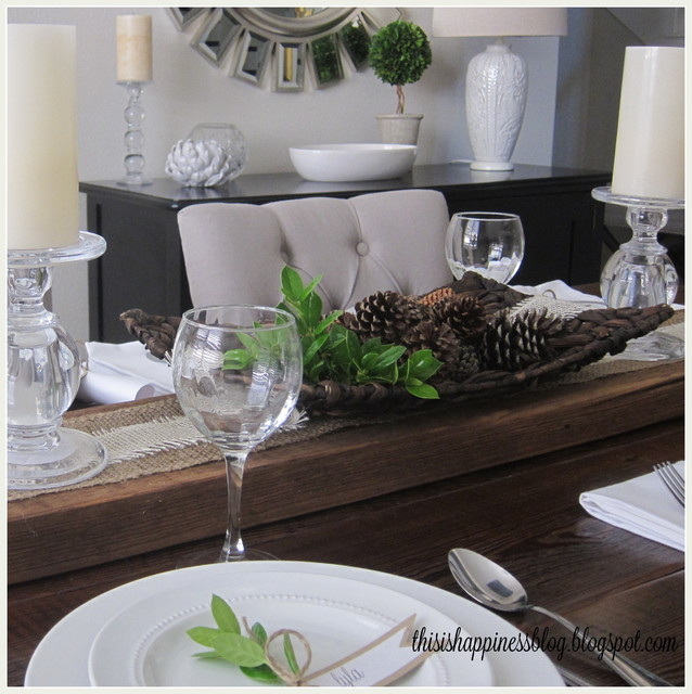 Thanksgiving Tablescape traditional-dining-room