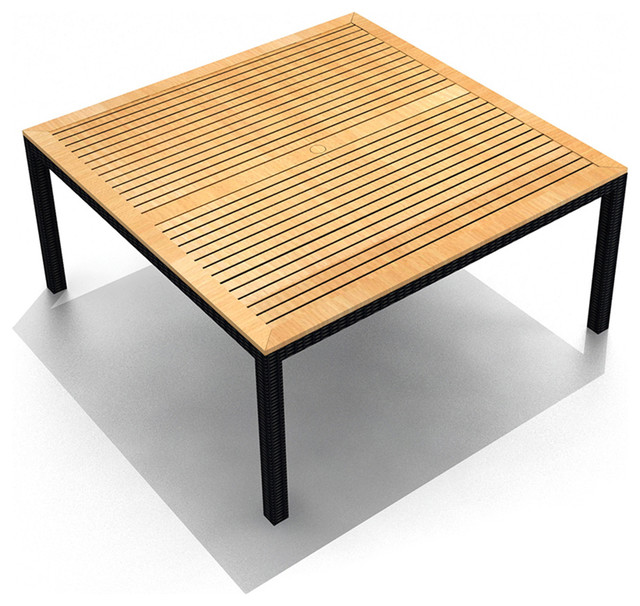 arbor teak 8 seater square dining table