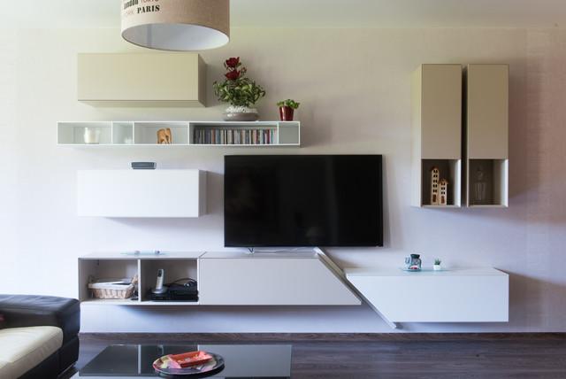 Composition Murale Pour Meuble TV Design Moderne Salon