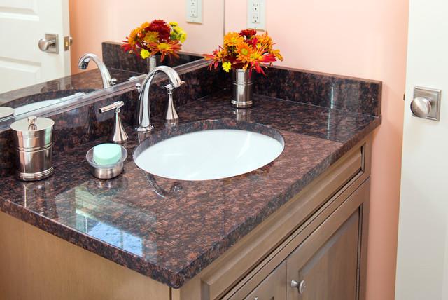 Tan Brown Granite Vanity