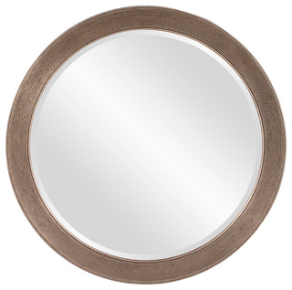 Virginia Round Silver Leaf Mirror