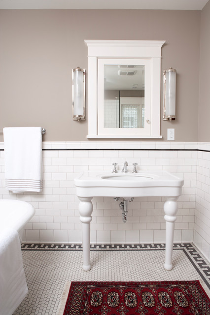 Subway Tile Shower Traditional Bathroom Minneapolis