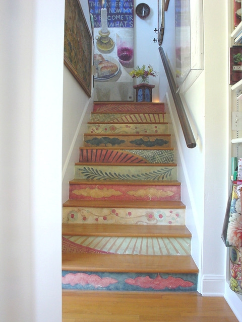 12 Fresh Alternatives To The Carpeted Staircase Houzz Uk | Converting Carpeted Stairs To Wood | Stair Tread | Staircase Makeover | Laminate Flooring | Wood Flooring | Risers