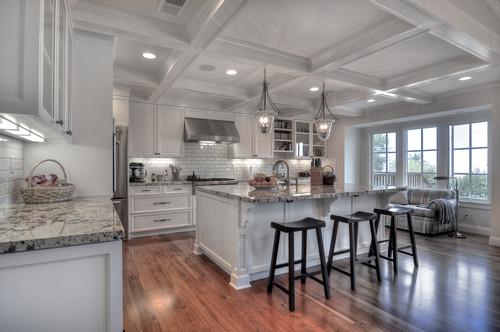 Bianco Antico Granite White Cabinets Backsplash Ideas