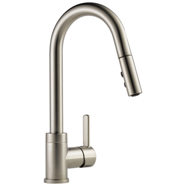 delta precept single handle pull down kitchen faucet stainless p188152lf ss