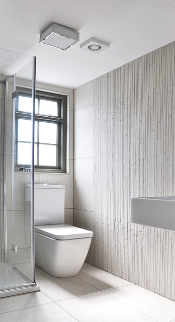 Small Ensuite Bathroom In The Loft Contemporary Bathroom London By Studio To Houzz Au