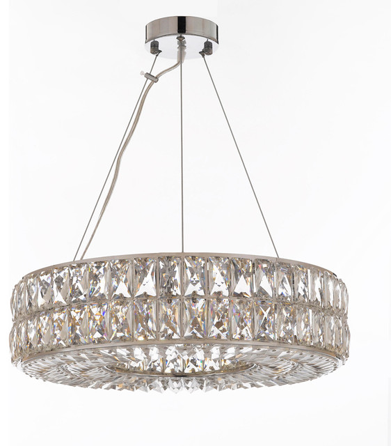 Crystal Spiridon Ring Chandelier Modern Contemporary Lighting Pendant Chandeliers