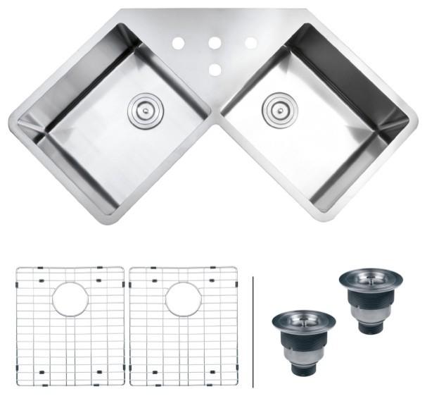 title | Undermount Corner Kitchen Sink