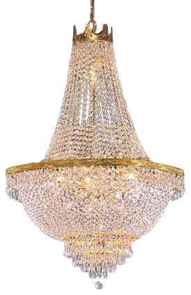 French Empire Crystal Chandelier 9 Light Traditional Chandeliers