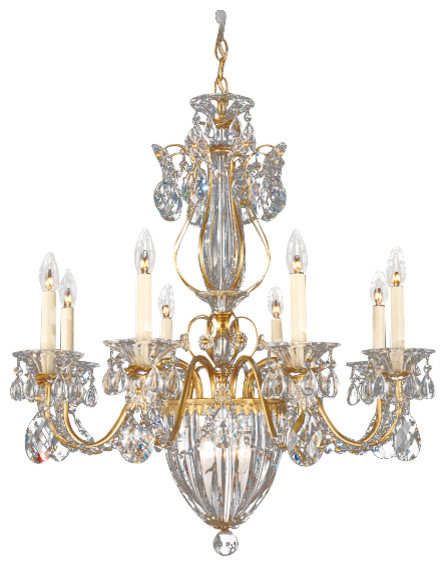Schonbek Lighting 1248 22 Bagatelle Heirloom Gold 11 Light Chandelier Victorian Chandeliers
