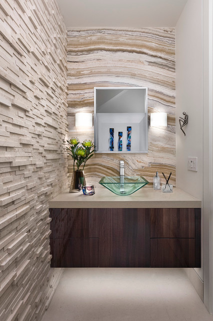 Dramatic Contemporary Powder Room contemporary-powder-room
