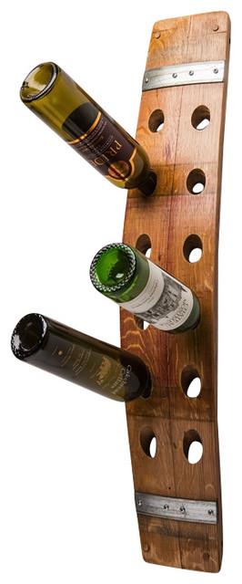 wine barrel wall 12 bottle wine rack