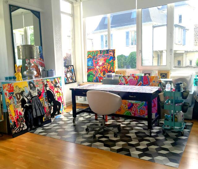 mon atelier d artiste contemporain bureau a domicile