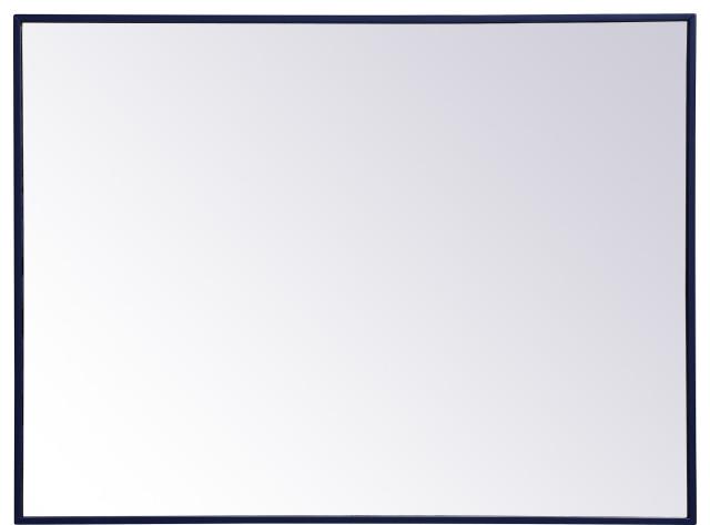 elegant lighting mr43040 eternity 30 x 40 rectangular beveled blue