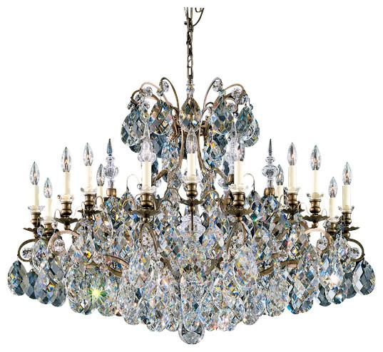 Schonbek Lighting 3792 76 Renaissance Heirloom Bronze 19 Light Chandelier