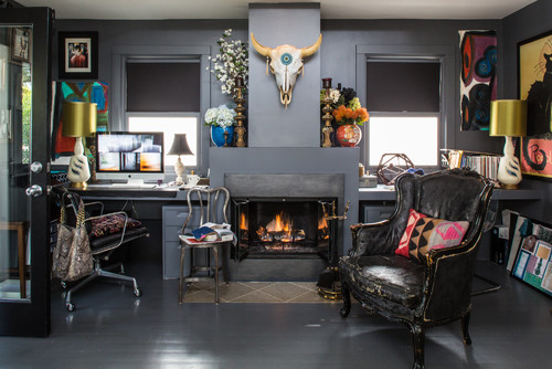 Eclectic Home Office establish eclectic style | thechicybeast