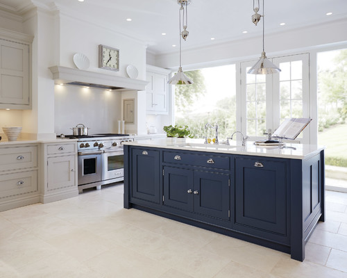 Navy Cabinets - Popular Cabinet Color Trend