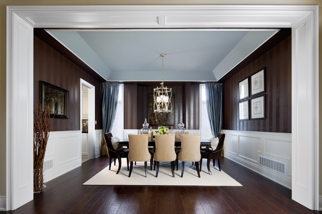 "Jane Lockhart Interior Design, Kylemore Model Home ""Dublin"" traditional-dining-room"