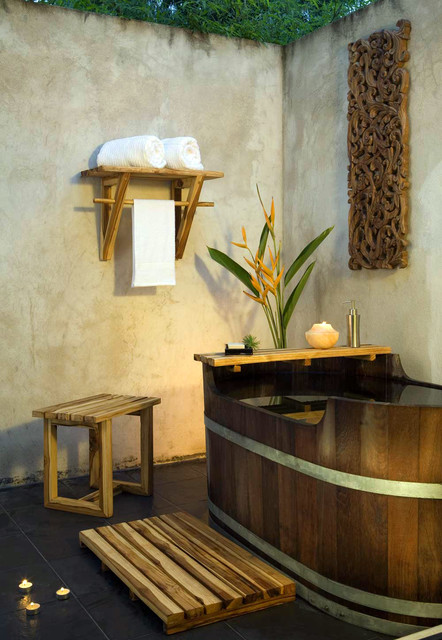 Thailand Indoor Outdoor Bath Room Asian Bathroom