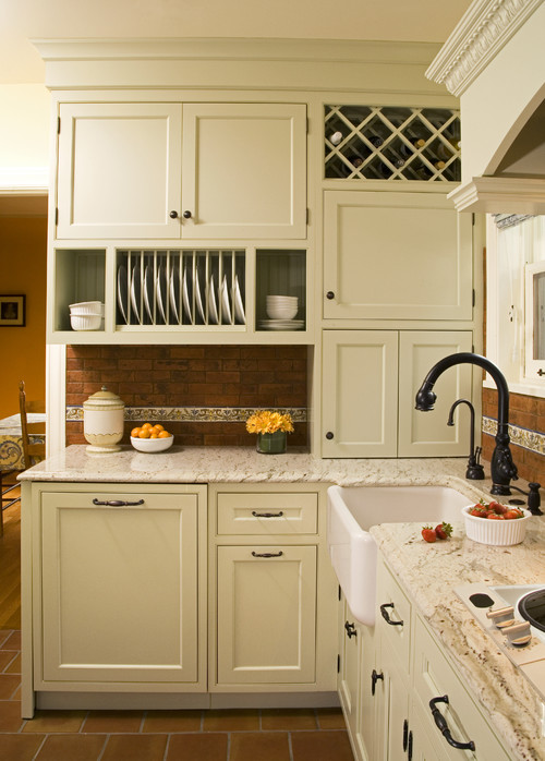 Accented Wire Pulls with Shaker Cabinets