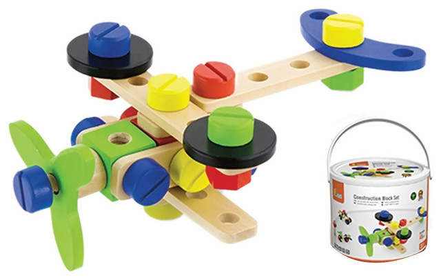 Kids Construction Block Set   Contemporary   Baby And Toddler Toys     Kids Construction Block Set